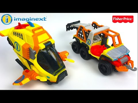 fisher-price-imaginext-deep-sea-sub-&-mighty-machine-6-wheeler-from-deep-ocean-adventure--unboxing