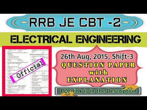 rrb-je-electrical-engineering-||-26-aug,-2015-shift-3-||-question-&-answer-||