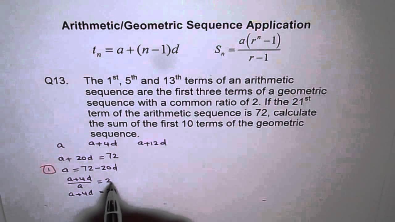 Important Arithmetic Geometric Combination Q13 Q21 P 469 Nelson