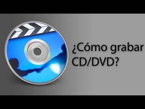 Grabar un cd/dvd con música o películas.
