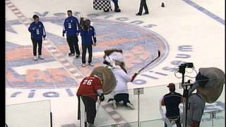 The Washington Nationals Presidents race at Nassau Coliseum Feb. 21, 2011