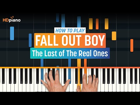 """How To Play """"The Last of The Real Ones"""" by Fall Out Boy   HDpiano (Part 1) Piano Tutorial"""