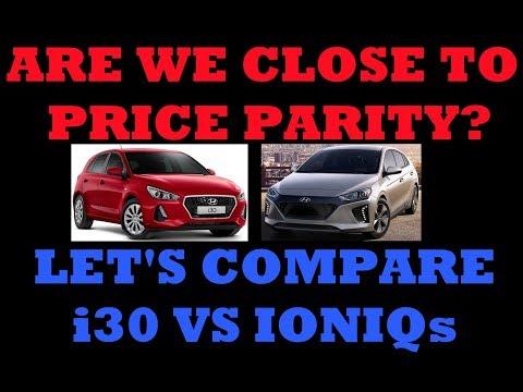 Are We Close To Price Parity? Comparing Hyundai I30 GO To Ioniq Range