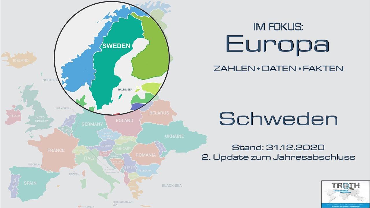 Schweden: Update der Zahlen zum 31.12.2020