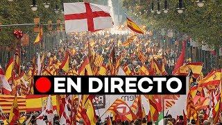 EN DIRECTO: [12 de Octubre] Manifestación unionista en Barcelona