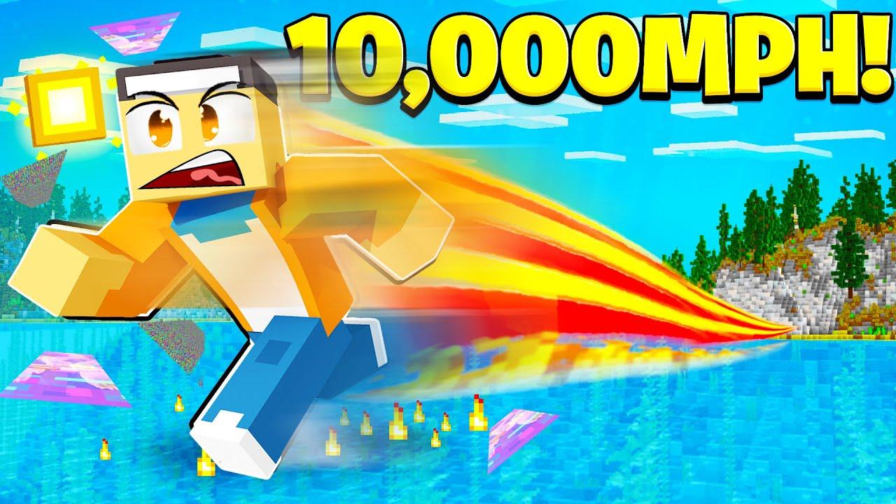 Running so STUPIDLY FAST I Broke Minecraft…