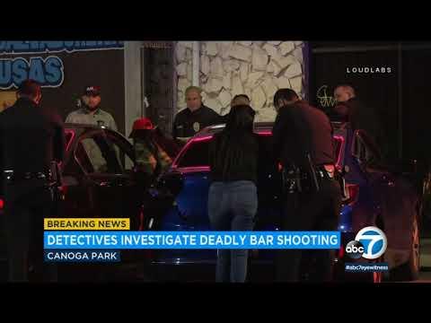 Man shot to death outside Canoga Park bar; woman in custody | ABC7
