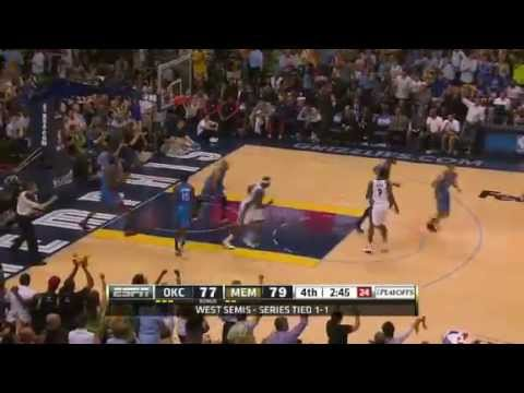 NBA Playoffs 2013 - Oklahoma City Thunder vs Memphis Grizzlies Game 3 Highlights (5/11/13)