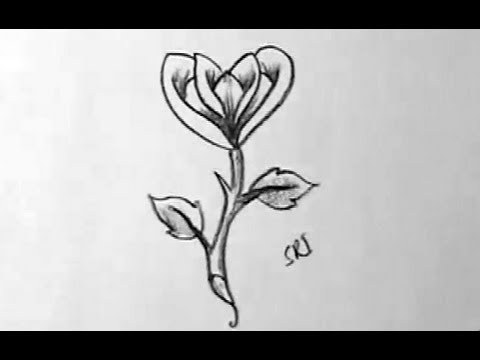 How to draw a simple rose flower in easy way yzarts yzarts how to draw a simple rose flower in easy way yzarts yzarts ccuart Gallery