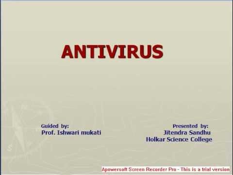 Antivirus- Presentation on Antivirus - YouTube