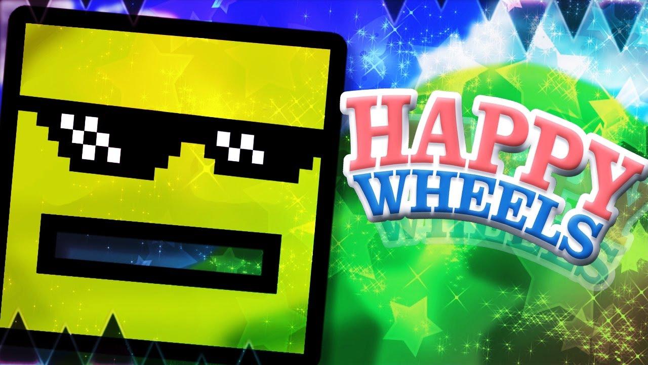 Geometry Dash En Happy Wheels Happy Wheels 9 Youtube