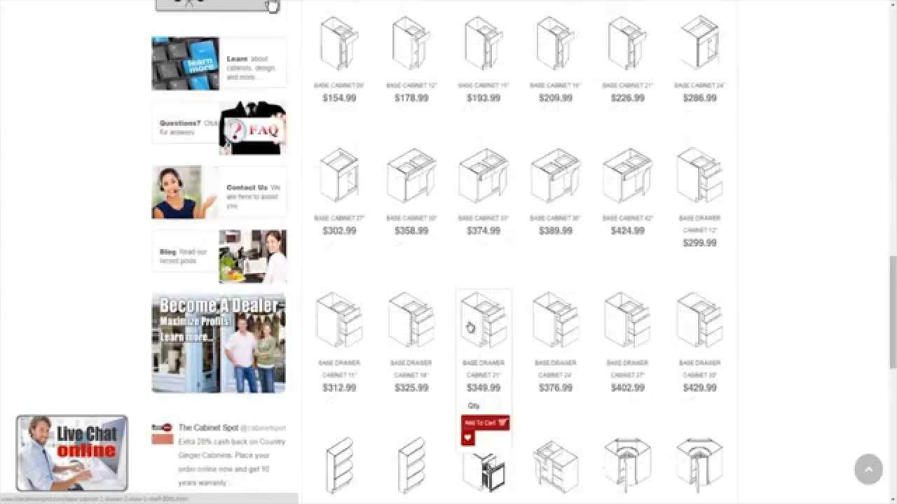 how to order kitchen cabinets online at youtube. Black Bedroom Furniture Sets. Home Design Ideas