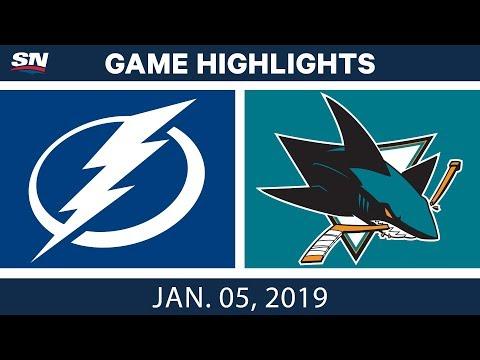NHL Highlights   Lightning vs. Sharks - Jan. 5, 2019