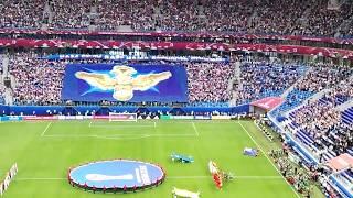 Кубок Конфедераций 2017 Открытие Гимн России Зенит Арена Взгляд с трибун