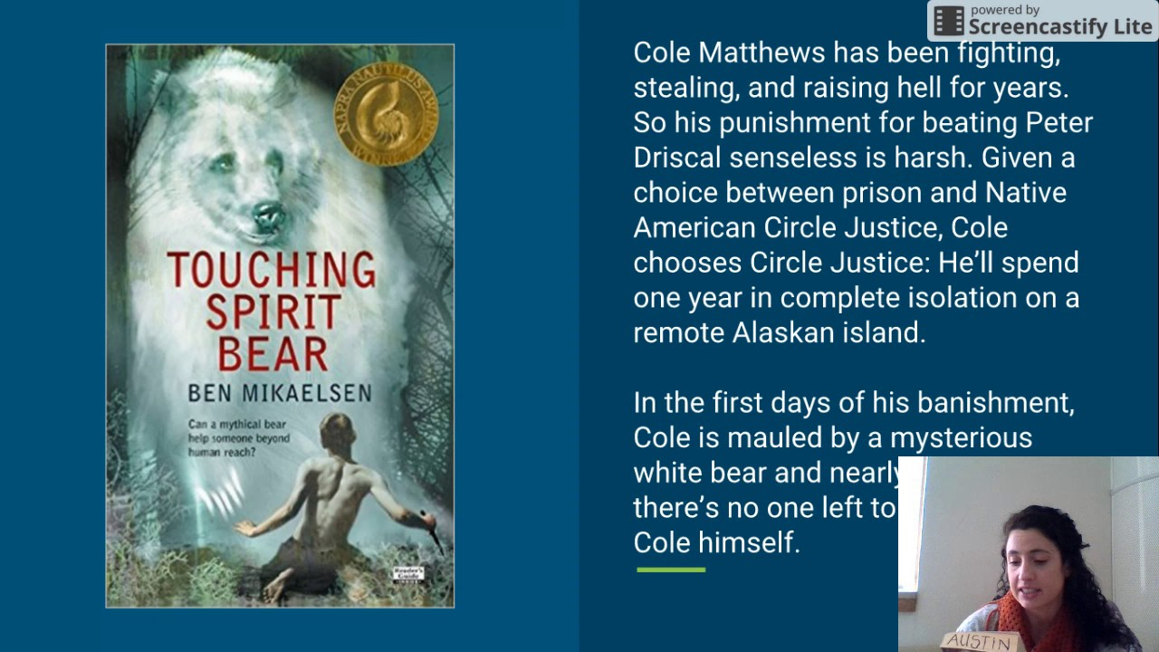 character analysis touching spirit bear Cole matthews has appeared in the following books: touching spirit bear (spirit bear, #1).