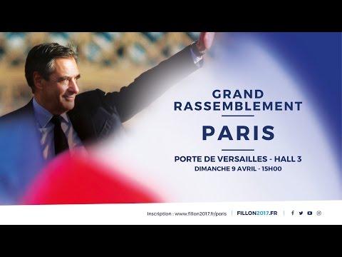Grand rassemblement autour de François Fillon à Paris