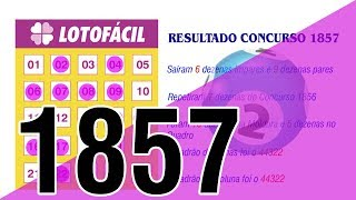 LOTOFÁCIL   RESUMO E COMENTÁRIOS DO CONCURSO 1857