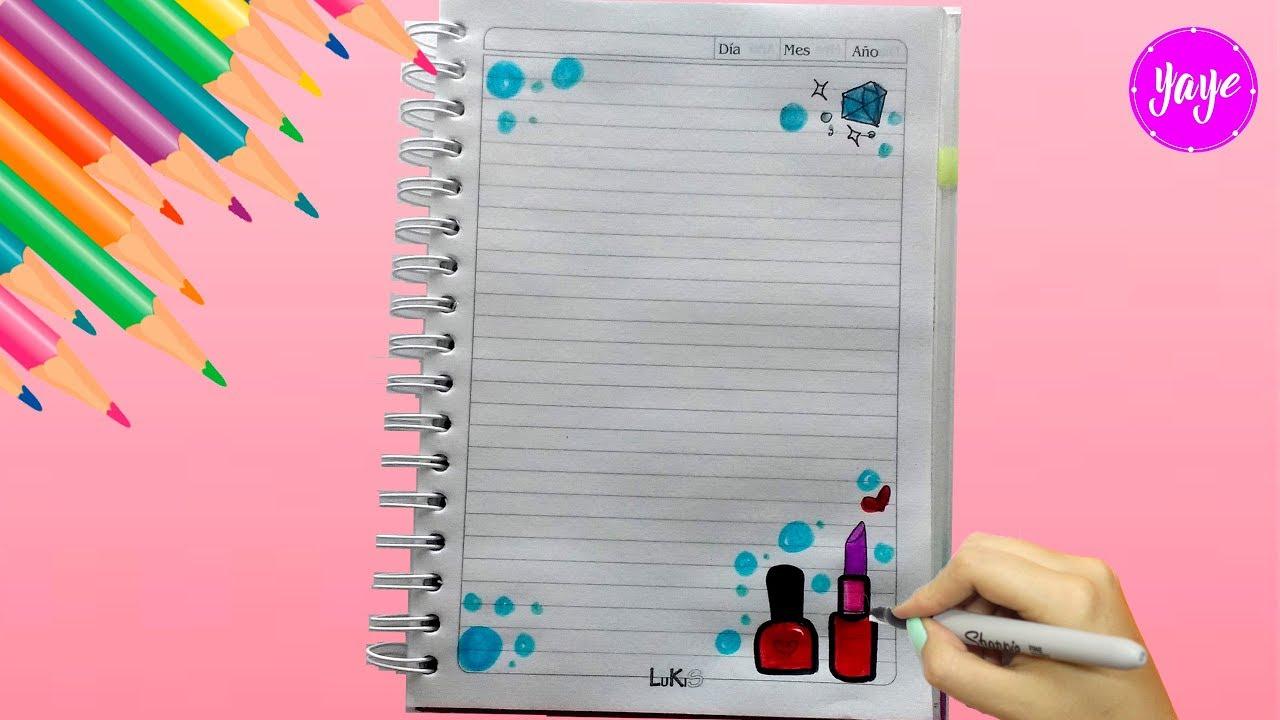 Idea Para Marcar Cuadernos Cómo Dibujar Márgenes Dibujos Para Niños Yaye