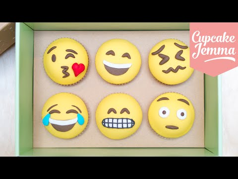 Generate How to Make Emoji Cupcakes | Cupcake Jemma Images