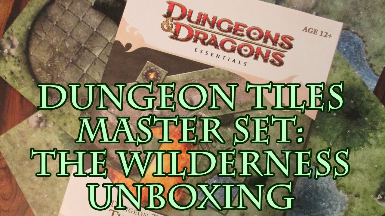 Dungeon Tiles Master Set The Wilderness Unboxing Youtube