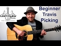 Easy Beginner Travis Picking Guitar Lesson - Order and Chaos - FREE TAB - Drue James