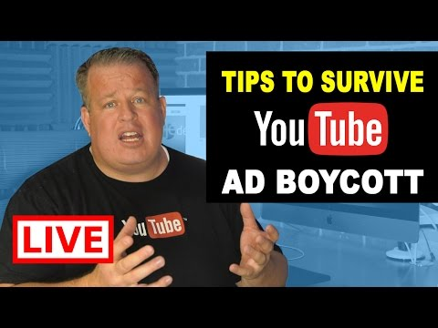 🔴 LIVE:  YouTube Ad Boycott: Tips to Survive  Part 1