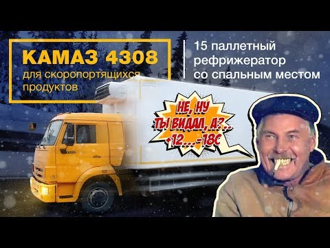 Камаз 4308 для скоропортящихся продуктов, 15 паллетов, полная масса 11,9 т до платона.