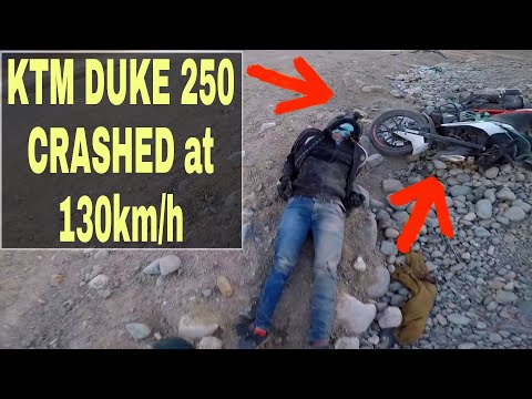 KTM DUKE 250 Crashed at 130KMPH in Ladakh 🤕😥