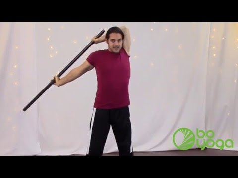 bo yoga  shoulder stretch for back and neck stress relief