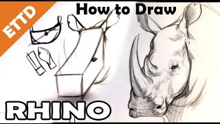 How to Draw a Rhino - Easy Things To Draw