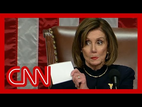See Pelosi's stern message to party after impeaching Trump