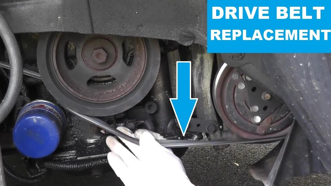 Nissan Maxima  Infiniti Drive Belt Replacement with Basic Hand Tools HD  YouTube