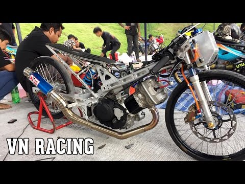 Honda Sonic Drag Bike modified the NOS system in Thailand