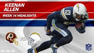 Keenan Allen's 6 Grabs & 111 Yards vs. Washington! | Redskins vs. Chargers | Wk 14 Player Highlights