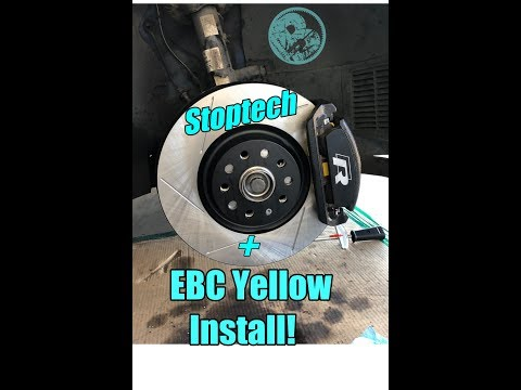 Stoptech Rotors & EBC Pad install! | With Electronic Parking Brake | MK7 Golf R