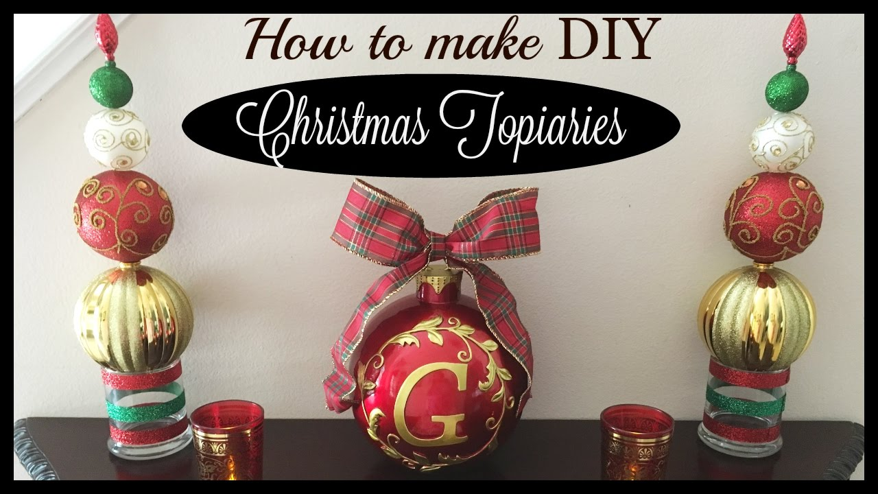 christmas diy dollartree - Topiary Christmas Decorations