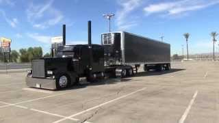 Dedicated Ride Peterbilt 379 Arriving And Parking At TFK 2014