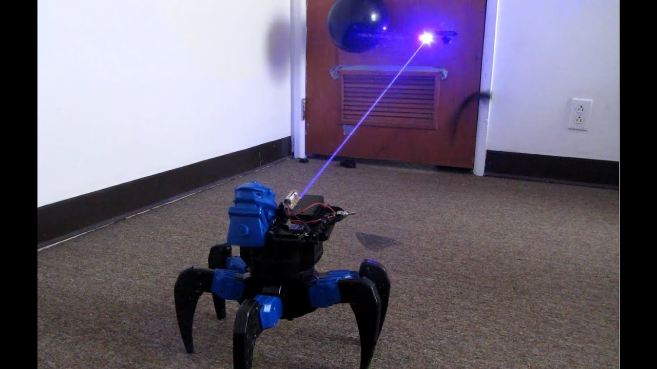 Homemade Death Ray Laser DRONE BOT Remote Controlled