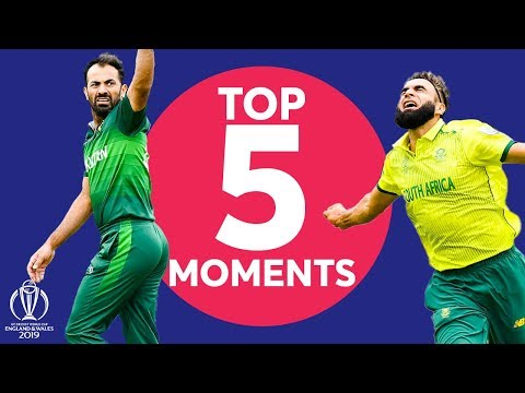 tahir?-haris-sohail?-|-pakistan-vs-south-africa---top-5-moments-|-icc-cricket-world-cup-2019
