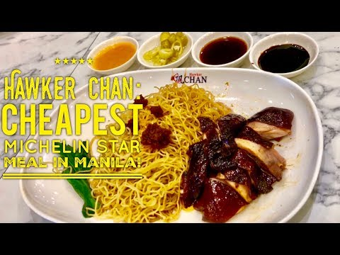 Hawker Chan: World's Cheapest Michelin Star Meal Now in Manila Philippines