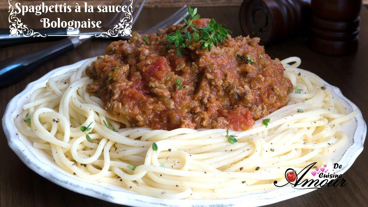 Spaghettis la sauce bolognaise plat rapide et facile pour d butants par soulef amour de - Plat rapide et facile ...