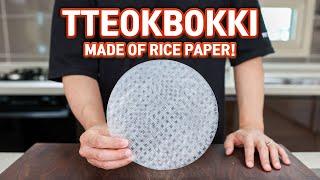 Rice Paper TTEOKBOKKI, Easy but Perfect Spicy Korean Rice Cakes! Cooking Hacks!