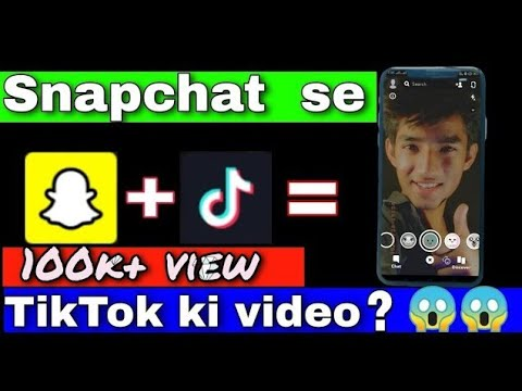 Snapchat Toturial How To Make Tiktok Video With Snapchat Filter Mr Sahil 146 Techsahiltech Youtube