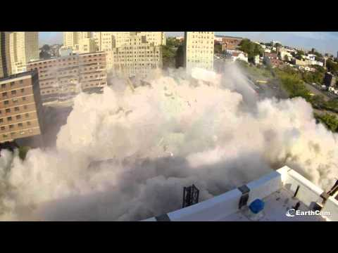 Jersey City Montgomery Gardens Implosion Footage