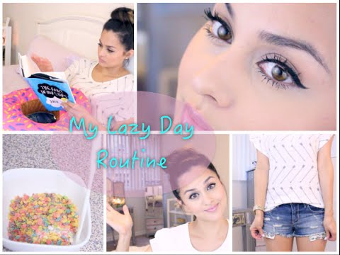 My Lazy Day Routine Hair Makeup Outfit Skincare And Breakfast Youtube