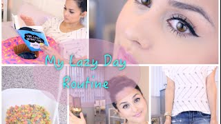 My Lazy Day Routine ( Hair, makeup, outfit, skincare, and  breakfast)
