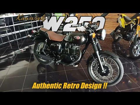 Kawasaki W250 SE hitam - spesifikasi & fitur