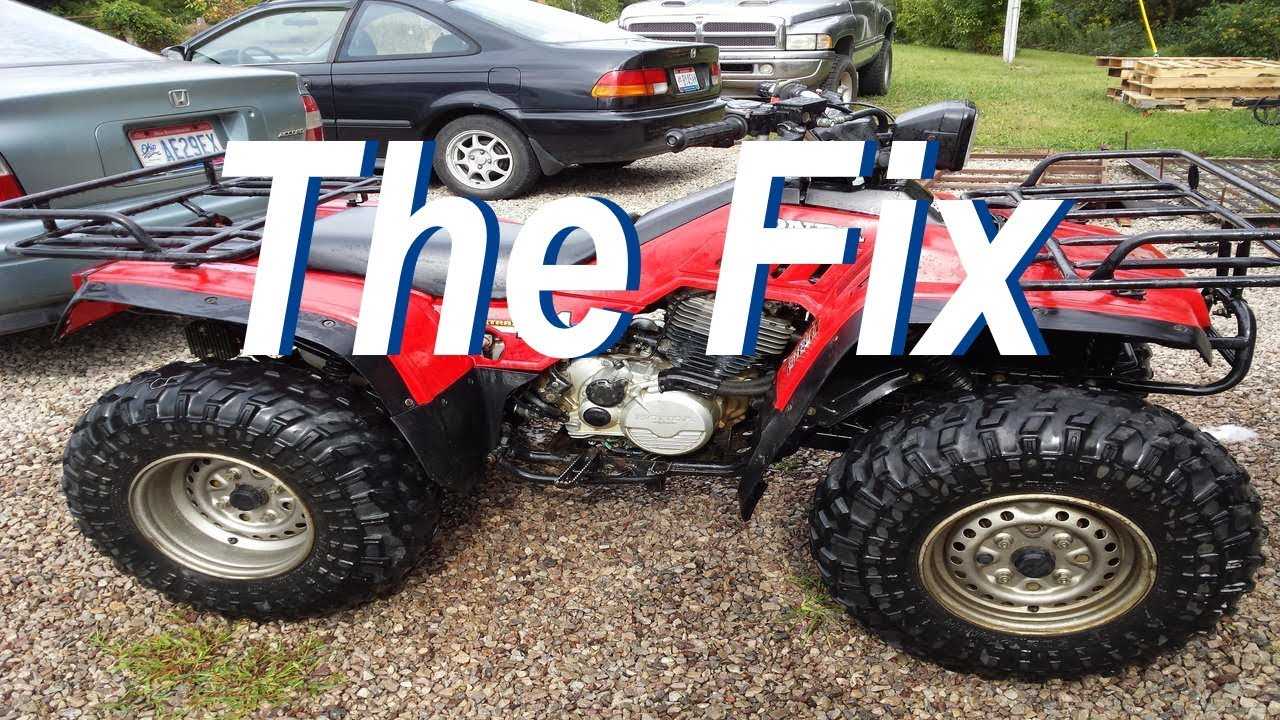 honda trx 350 wont start youtube