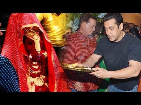Salman Khan's Family BRING Lord Ganpati At...
