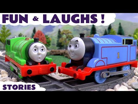 Thomas The Train Fun and Pranks with Play Doh Toy Trains Tayo Pocoyo Toys and Easter Surprise Eggs